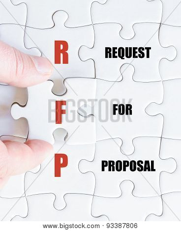 Last Puzzle Piece With Business Acronym Rfp