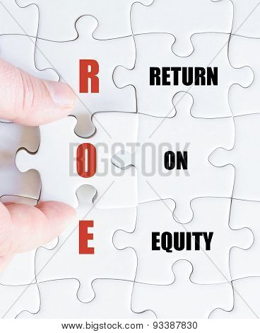 Last Puzzle Piece With Business Acronym Roe