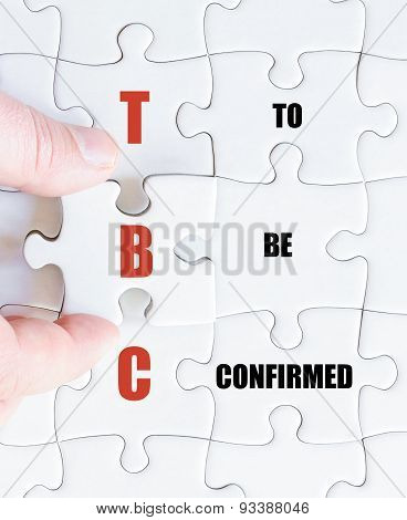 Last Puzzle Piece With Business Acronym Tbc