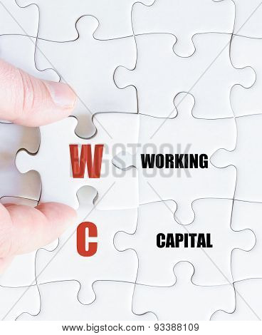 Last Puzzle Piece With Business Acronym Wc
