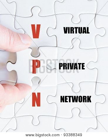 Last Puzzle Piece With Business Acronym Vpn