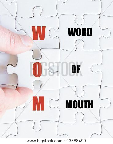 Last Puzzle Piece With Business Acronym Wom
