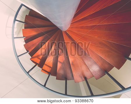 Design Spiral Staircase Made Of Wood