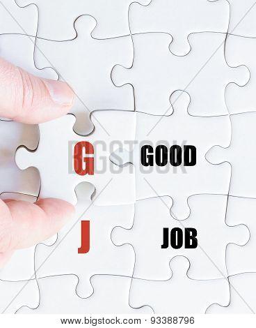 Last Puzzle Piece With Business Acronym Gj