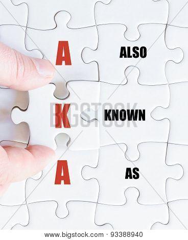 Last Puzzle Piece With Business Acronym Aka