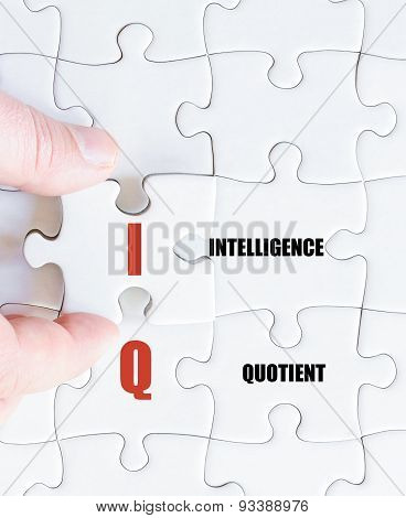 Last Puzzle Piece With Business Acronym Iq