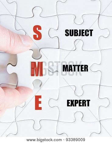 Last Puzzle Piece With Business Acronym Sme