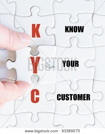 Last Puzzle Piece With Business Acronym Kyc