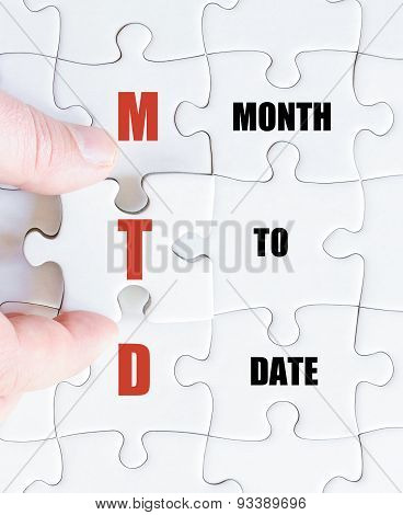 Last Puzzle Piece With Business Acronym Mtd