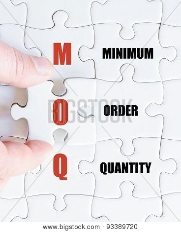 Last Puzzle Piece With Business Acronym Moq