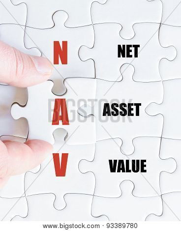 Last Puzzle Piece With Business Acronym Nav
