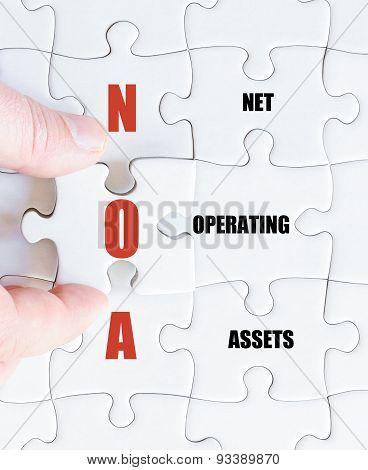 Last Puzzle Piece With Business Acronym Noa