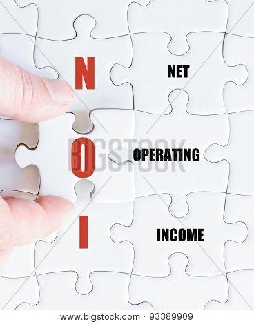Last Puzzle Piece With Business Acronym Noi