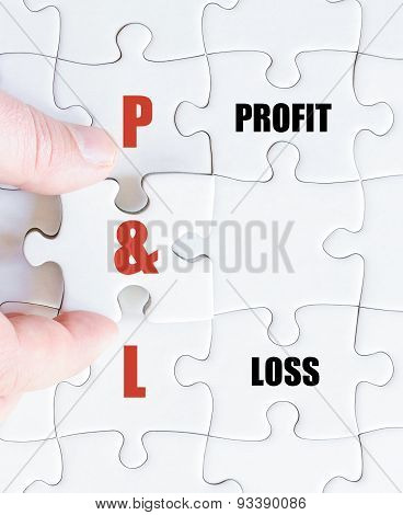 Last Puzzle Piece With Business Acronym P&l