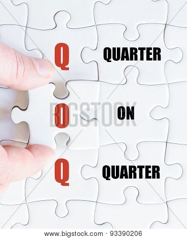Last Puzzle Piece With Business Acronym Qoq