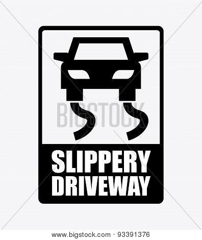 slippery driveway