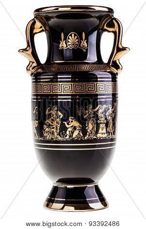 Gilded Greek Vase