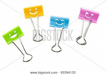 Smile Clip On White Background