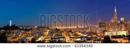 San Francisco Cityscape At Dusk