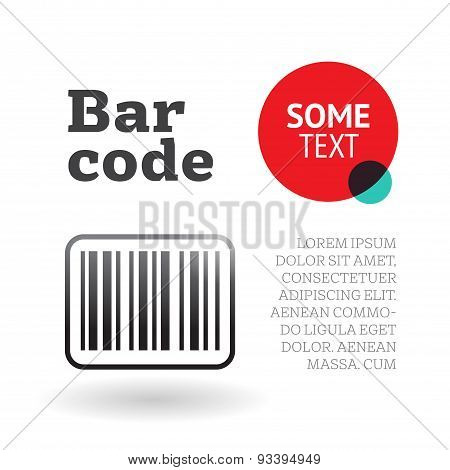 Brochure or page template with barcode