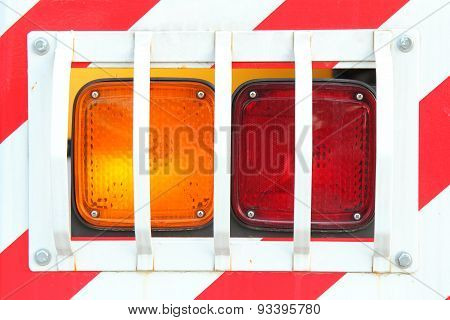 tail light of the truck