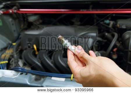 spark plug of the car