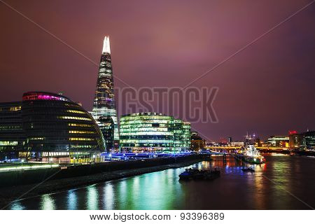 Overview Of London With The Shard London Bridge