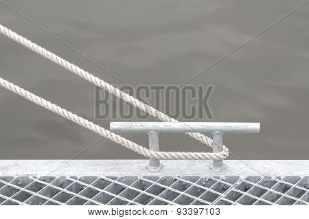 Marina Bollard With Rope.