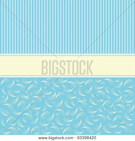 Floral Background Template.  Vector Illustration.