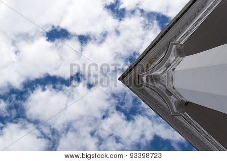 Greek Roman Style Pillar And Sky
