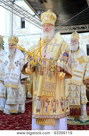 Kiev, Ukraine, the Holy Dormition Kiev-Pechersk Lavra, the celebrations in honor of the anniversary