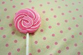 foto of valentine candy  - Candy valentines on a background of fabric - JPG