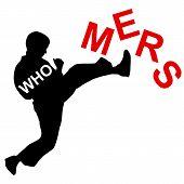picture of karate  - Karate wins Mers Corona Virus sign - JPG