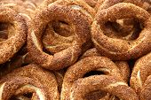 pic of bagel  - Turkish bagel bread called Simit in Istanbul - JPG