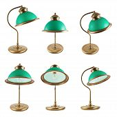 picture of lamp shade  - Metal table - JPG