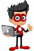 ������, ������: Super Boy In Red Character