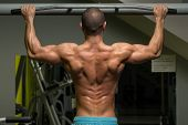 image of pull up  - Young Male Athlete Doing Pull Ups  - JPG