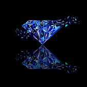 picture of merge  - Gemstones around the world merge to be one Marvellous Diamond use for blue sapphire logo - JPG