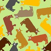 stock photo of cow  - Cow seamless pattern - JPG