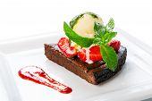 foto of ice-cake  - Restaurant dessert  - JPG