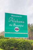 foto of alabama  - Welcome to Alabama the Beautiful sign at the state border - JPG