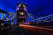 picture of london night  - The Tower Bridge at night in London - JPG