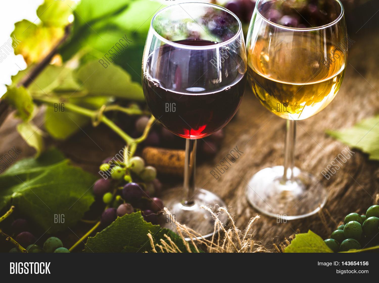 White Wine Cellar : Wine glass of white in cellar old