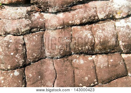 pattern on sandstone erosion caused by wind and water.Phu Hin Rong Kla National Park is a national park located in the Loei Phitsanulok and Phetchabun Provinces of Thailand.