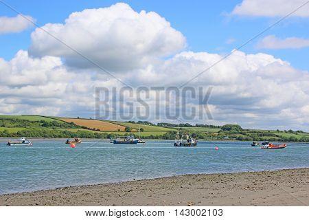 River Teifi estuary on Poppit sands, Wales