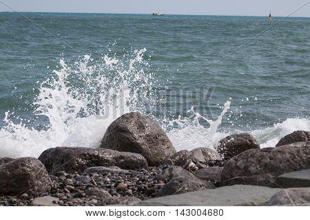beach and stone atlantic sea florida daytime