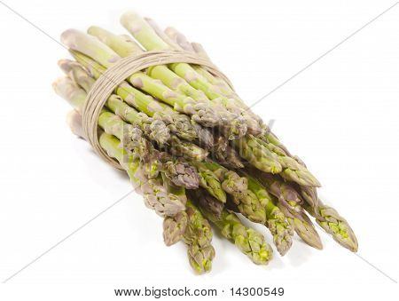Asparagus Wrapped In Hemp On Side