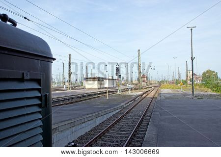 Detail of the train stations of Leipzig