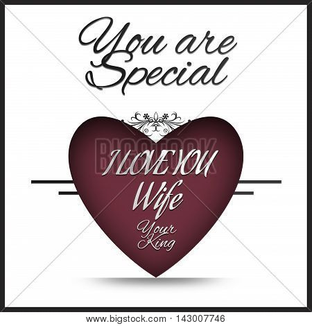 I love you Wife - You are Special