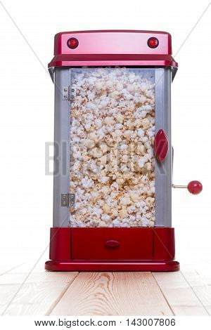 Crank Lever On Full Popcorn Maker
